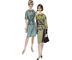 60s Double Breasted Skirt Suit Pattern by allthepreciousthings