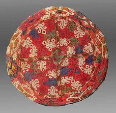Chodor Turkmen Embroidered Hat, Central Asia