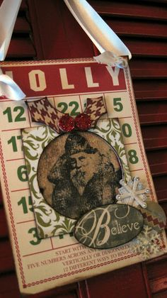 BINGO Christmas Bingo Cards, Christmas Bags, Christmas Crafts, Christmas Ideas, Christmas Ornaments, Cherries Jubilee, Pocket Letters, Unique Cards, Smash Book