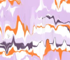 Marbled in Amethyst by Domesticate from Spoonflower #fabric #purple #orange