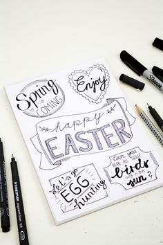 Luloveshandmade: DIY: Easter Handlettering and Free Printable