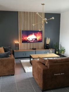 Zoey & # s + 8 andere foto& - Foto& van de week - Salons Decor, Home Living Room, Room Design, Feature Wall Living Room, House Interior, Living Room Design Modern, Living Room Tv Unit Designs, Living Room Designs, Living Room Tv