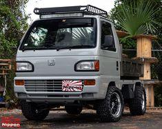 Dump Trucks, Mini Trucks, Honda Truck, Mini 4x4, Kei Car, Racing Car Design, Truck Mods, Toyota Hiace, Mini Camper