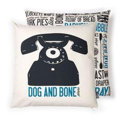 Victoria Eggs Dog and Bone Cockney Rhyming Slang Cushion | Prezola - The Wedding…