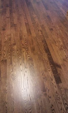 On all our wood floors. Hardwood Floor Stain Colors, Floor Colors, Hardwood Floors, Wood Flooring, Oak Floor Stains, Stairs Colours, Red Oak Floors, Bedroom With Sitting Area, Minwax Stain