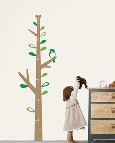 Kids' Growth Chart - I have the perfect skinny strip of wall for this in Finn's nursery.