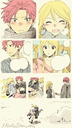Someone colored 'Ginsekai no Shoumei' and turned it into NaLu! I've read this manga before, how come I didn't notice it before?!