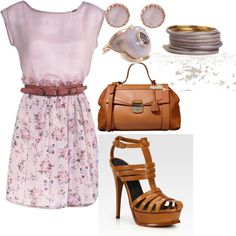 """""""Lavender and tan"""" by jessica-robertson-i on Polyvore"""