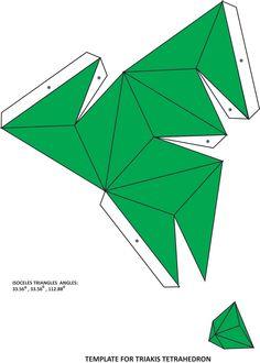 Template for Triakis Tetrahedron