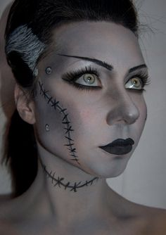 Makeup: Bride of Frankenstein. by JessieOctober.deviantart.com on @DeviantArt