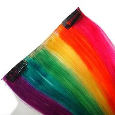 Rainbow Hair Extensions  Tropical Rainbow ClipIn by IKickShins, $30.00