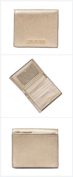 906ffea72b21 Pale Gold Jet Set Travel Carryall Card Case Wallet. Tradesy. Michael Kors  ...