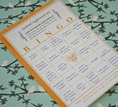 bridal bingo - something like this could be funny Wedding Bingo, Wedding Reception Activities, Bridal Shower Bingo, Bridal Bingo, Wedding Reception Flowers, Wedding Games, Reception Ideas, April Wedding, Our Wedding