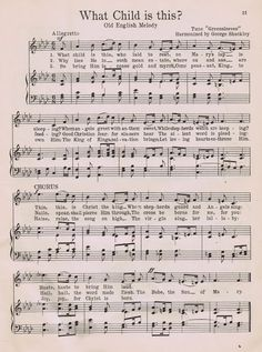Free Printable Christmas Sheet Music Page - What Child is This? from KnickofTime.net