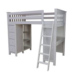 All-in-One Twin Loft Bed with Drawers