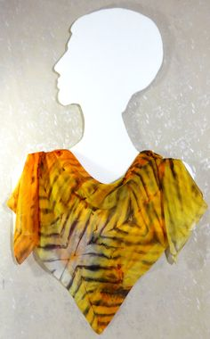 Handpainted silk square scarf Tiger Style. by WhisperOfSilk