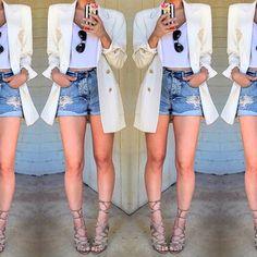 Escada off white blazer Super chic vintage Off white blazer by Escada. So on trend! Escada Jackets & Coats Blazers