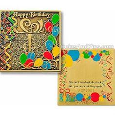 Bronze Happy Birthday Geocoin