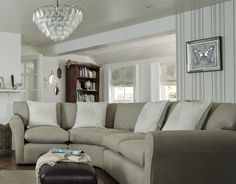 Freshwater Bay / AW 2014 / Laura Ashley / Home Collection Corner sofa option? Home Living Room, Living Room Decor, British Home Decor, Summer 2014, Spring Summer, Laura Ashley Home, Childrens Room Decor, Corner Sofa, Shabby Chic Decor
