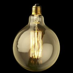 XL Round  Edison Squirrel Cage Filament Bulb