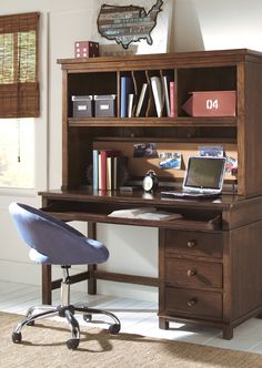 The perfect study center, the Boulder desk not only looks great, it's highly functional too!
