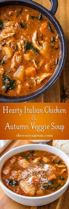 Hearty Italian Chicken &  Autumn Veggie Soup