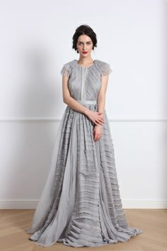 Parlor brand was founded in with the conviction that no matter the trends and times, a woman must still be refined, feminine and elegant. Chiffon Gown, Silk Dress, Lining Fabric, Silk Fabric, Fashion Journalism, Feminine, Gowns, Elegant, Formal Dresses