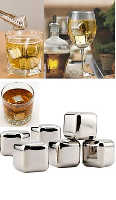 What do you prefer for aperitif? Whiskey or wine? Get this set of 10 stainless steel ice cubes at $17.09. Perfect choice.