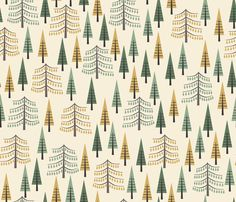 Tall Pines fabric by oliveandruby on Spoonflower - custom fabric