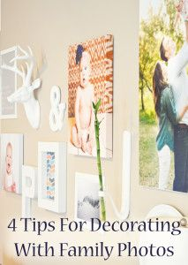 4 Tips for decorating with family pictures. lol i need this especially with all the photos i have of my niece It Goes On, Photo Craft, Do It Yourself Home, Home Hacks, Photo Displays, Family Pictures, Decorating Tips, Home Projects, Wall Decor