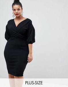 7c9125d0c23 Boohoo Plus Off The Shoulder Wrap Dress at asos.com