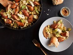 Smoked Sausage, Cabbage, and Apple Skillet
