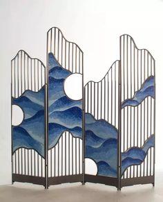 The cloud screen - Design & Room Divider & Shelves World Partition Screen, Partition Design, Folding Screen Room Divider, Folding Screens, Divider Design, Screen Doors, Screen Design, Elegant Home Decor, Elegant Homes