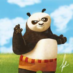Po Kung fu panda painting by rehash435.deviantart.com on @deviantART