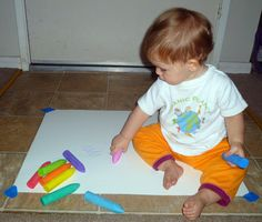 Art Experiences: Scribbling is a good way to help children with vision development.