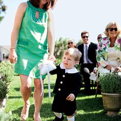 It took a chocolate-chip-cookie bribe to get the ring bearer down the aisle.