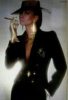 Mounia ysl 80's Key Photo, Photo Book, Yves Saint Laurent, Gabrielle Bonheur Chanel, Black Is Beautiful, Mannequin, Style Icons, Supermodels, Vogue