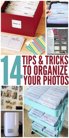 I need these tips for organizing my photos. -One Crazy House I need these tips for organizing my photos. -One Crazy House I need these tips for organizing my photos. -One Crazy House Organisation Hacks, Tips And Tricks, Scrapbook Organization, Craft Organization, Genealogy Organization, Scrapbook Supplies, Picture Storage, Photo Storage Boxes, Best Photo Storage