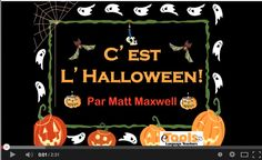 Fun French song for Halloween. High School French, French Kids, French Class, French Lessons, Video Halloween, Halloween Songs, Halloween Halloween, French Teaching Resources, Teaching French