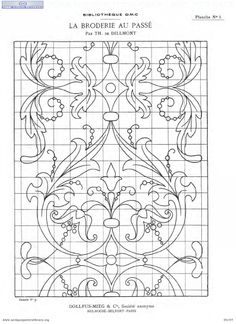 Broderie de passe - embroidery chart