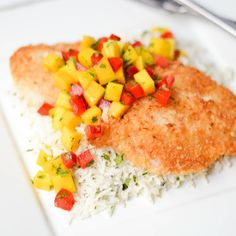 Coconut Crusted Rockfish.
