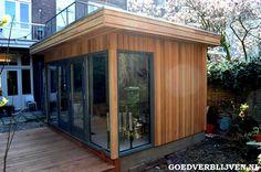 Aanbouw tuinkantoor Den Bosch