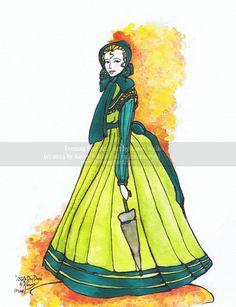 "$14: 8.5x11 ""1860s Day Dress"" Historic Fashion Illustration Print by EveningStarArt on Etsy"