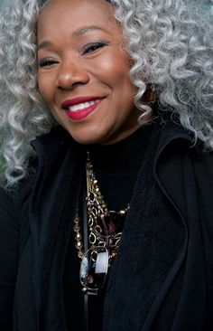 Fabulous and Silver! Model Lynette Hunter Halalay of Knit Sew Fabulous  Photographer, Eric Perry