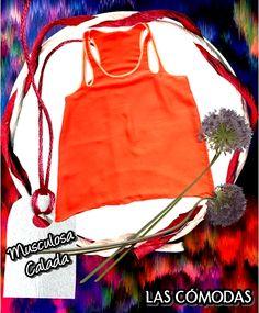 Musculosa calada  Color: Naranja