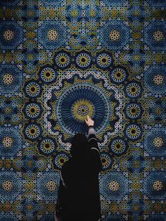 "yatzer: ""The Highlights of Dubai Design Week 2015 photo: The Hammam Deluxe carpet by Samovar Carpets. Photo by Herald Herrera at Downtown Design Dubai "" Mecca Wallpaper, Islamic Wallpaper, Dubai Design Week, Hijab Drawing, Mosque Architecture, Mekkah, Photo Deco, Hijab Cartoon, Islamic Girl"