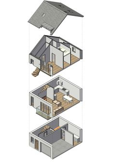 Exploded view of small residential development now completed in ilfracombe
