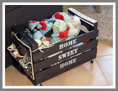 Craft time wooden crate...