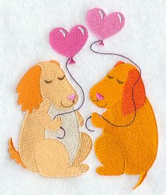 Love Is in the Air – Dogs design (F8593) from www.Emblibrary.com