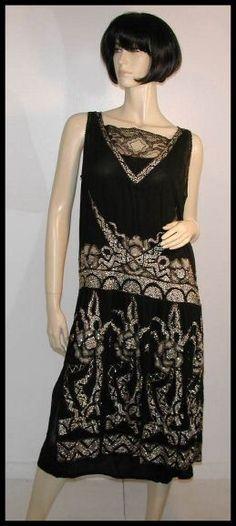 1920's Chanel beaded dress